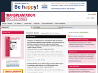 Transplantation Proceedings site image from SRDS.com